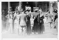 Women registering to vote